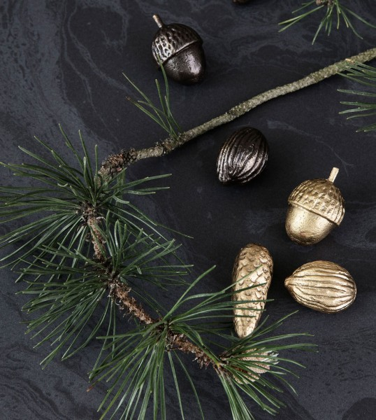 Ferm Living Winterland Forest Treats - Schwarz, 3er Set