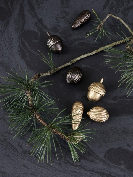 Ferm Living Winterland Forest Treats - Messing, 3er Set