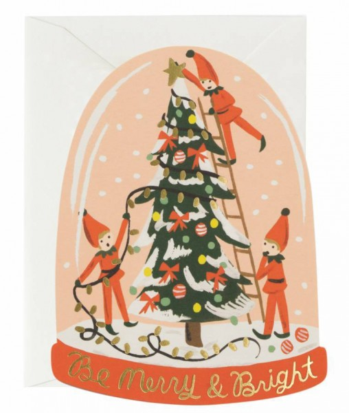 "Doppelkarte ""Merry Elves"" von RIFLE PAPER Co."