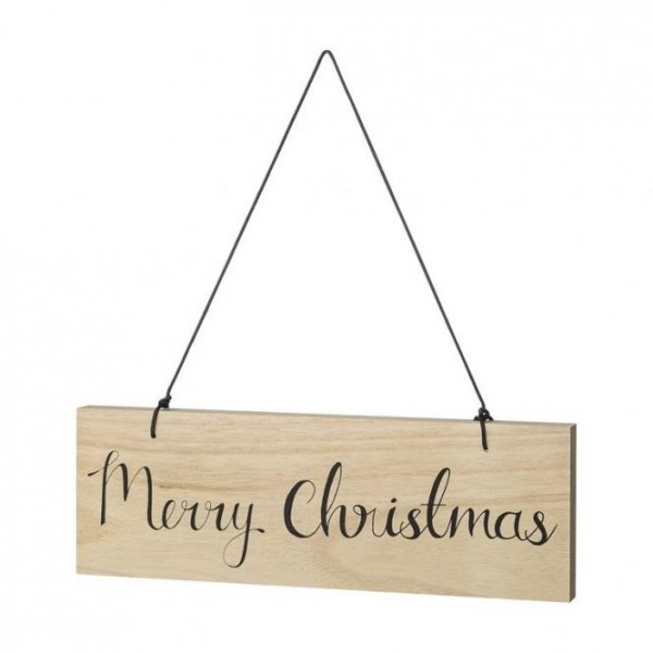 "Holzschild ""Merry Christmas"" von Bloomingville"